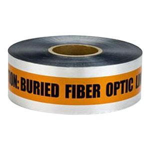 3M 409 400 Series Detectable Buried Barricade Tape 6 Inch x 1000 ft x 5 mil Orange Scotch®