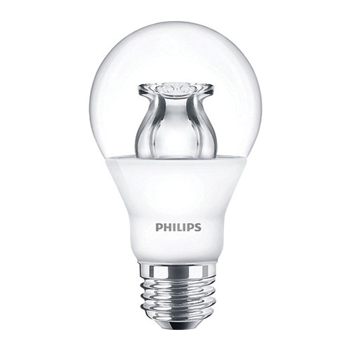 Philips Lighting 462515 A19 Omni-Directional LED Lamp 6 Watt E26 Single Contact Medium Screw Base 480 Lumens 80 CRI 2200 - 2700K Warm White