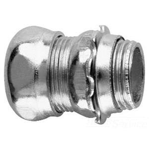 Crouse-Hinds 651S Zinc Plated Steel Non-Insulated EMT Compression Straight Connector 3/4 Inch