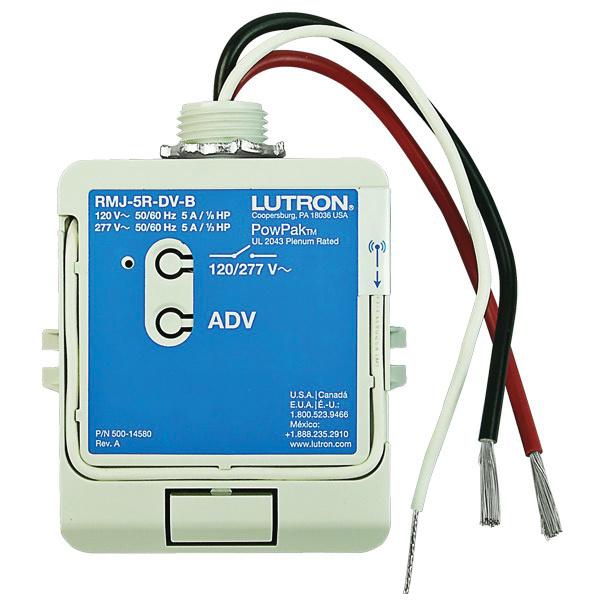 Lutron RMJ-5R-DV-B Relay Module With Soft Switch 120/277 Volt AC ...