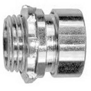 Crouse-Hinds 651SUS Zinc Electroplated Steel Non-Insulated EMT Compression Connector 3/4 Inch