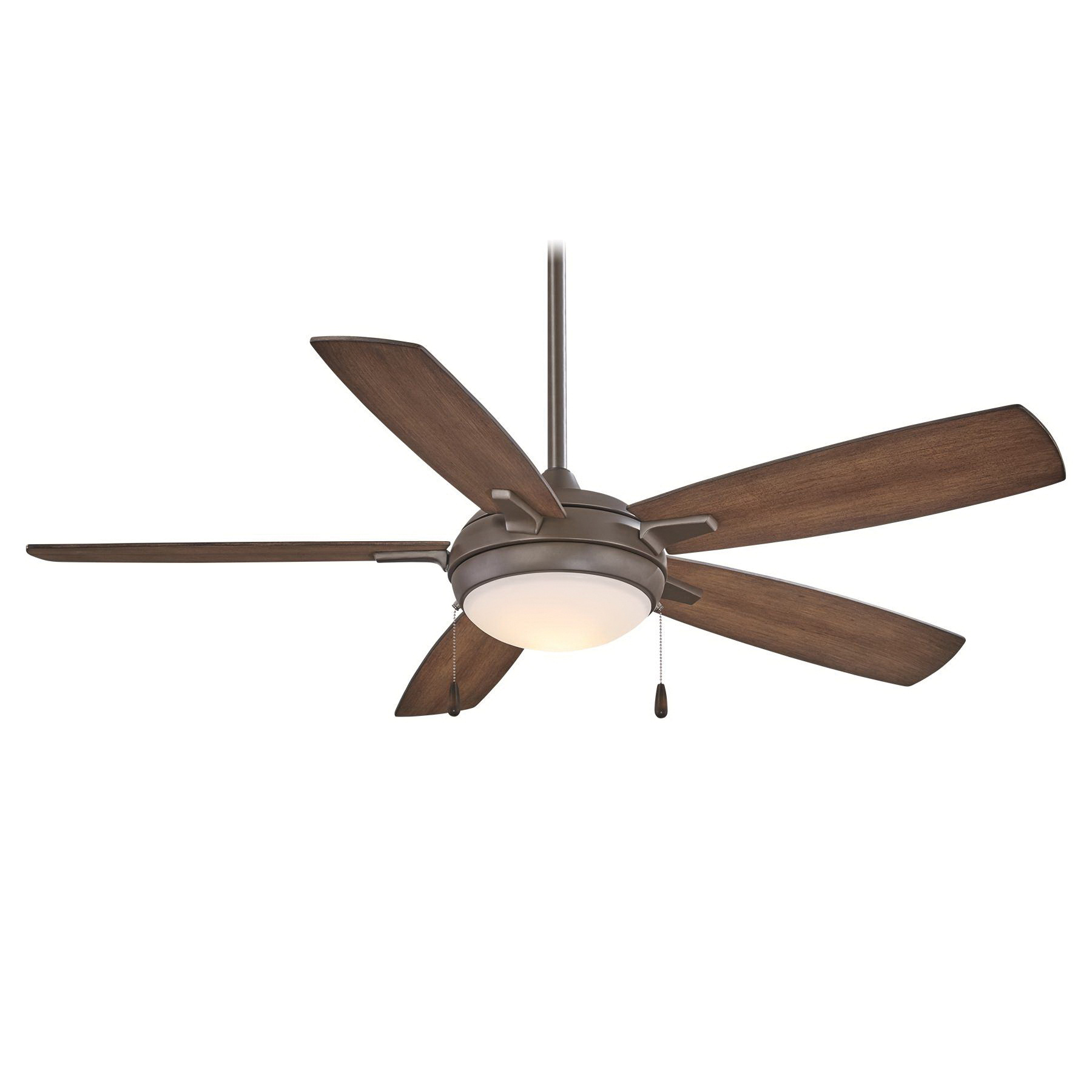 Minka-Aire F534L-ORB Ceiling Fan With Light 54 Inch 5 Blade 3 Speed Oil Rubbed Bronze Lun-Aire