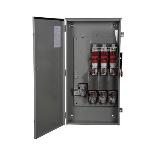 Eaton DH365NRK 4 Wire 3 Pole Fusible K Series Heavy-Duty Safety Switch 600 Volt AC 400 Amp NEMA 3R