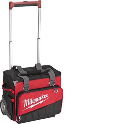 Milwaukee Tool 48 22 8221 66 Pockets Zipper Jobsite Rolling Bag 1680d Ballistic Nylon Red 16 Inch X 18 21