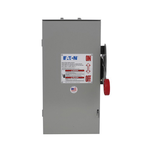 Eaton DH321FRK 3 Wire 3 Pole Fusible K Series Heavy-Duty Safety Switch 240 Volt AC 30 Amp NEMA 3R
