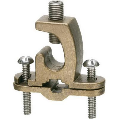 Arlington 719DB Solid Bronze Bare Wire Ground Clamp With Open Lug 3/8 - 1 Inch Pipe 8-4/0 AWG