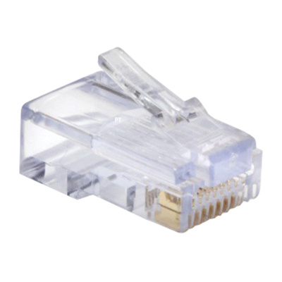 Platinum Tools 105003 8P8C Category 5e RJ45 EZ Style Connector Clear