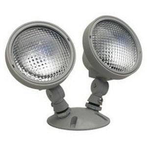 Contech Lighting EREL2HA5WS 2-Head Remote Emergency Light Fixture 6 Watt 6 Volt DC Silver