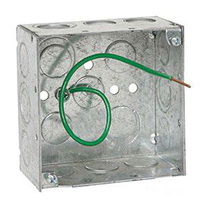Orbit Industries 4SB-50/75-PT Galvanized Sheet Steel Standard Switch Box  4-Inch x 4-Inch x 1-1/2-Inch