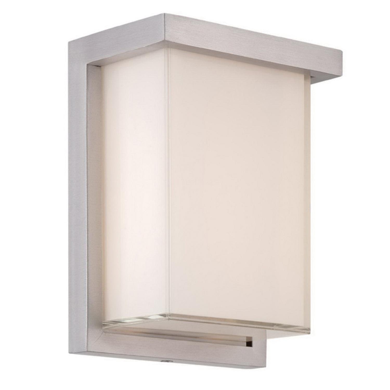 Modern Forms WS-W1408-AL Junction Box Mount 2 LED Wall Sconce 11.5 Watt 120 Volt Brushed Aluminum