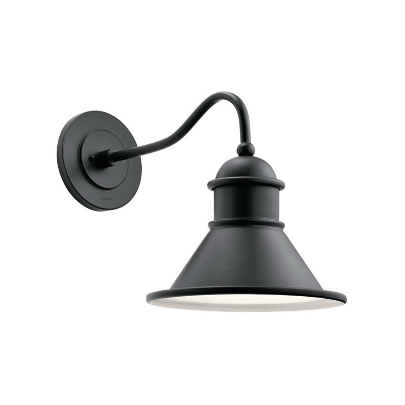Kichler 49776BK 1-Light Outdoor Wall Light 150 Watt 120 Volt Black Painted Northland