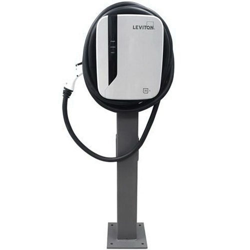 Leviton Evp30 B81 Electric Vehicle Charging Station 208 240 Volt Ac 30 Amp 18 Ft Evr Green Stations