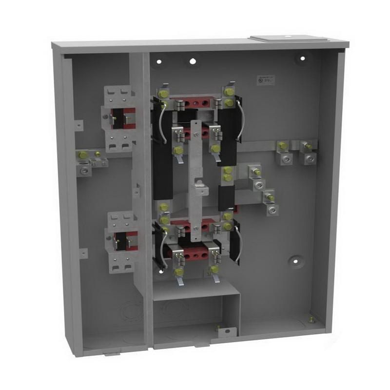 milbank u2862 x 1 phase rectangular ringless meter socket 4 jaw 2 rh usesi com Car Fuse Box Breaker Box