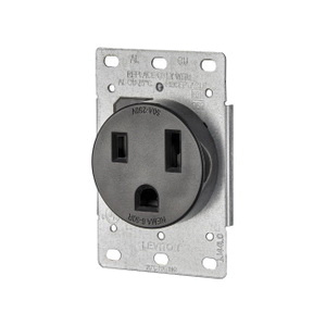 Leviton  Electrical Receptacle  50 amps 6-50R  250 volts Black