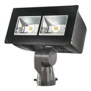 Cooper Lighting NFFLD-A40-D-UNV-66-S-BZ-MSP/DIM-L30 LED Flood Light Fixture 129 Watt 120 - 277 Volt 4000K Slip Fitter Mount TGIC Polyester Powder Coated Carbon Bronze Lumark®
