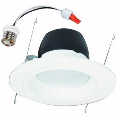 Halo RL560WH6827 5 Or 6 Inch LED Recessed Retrofit Baffle Trim RL56-600 Series Round Matte White 80 CRI 2700K 700 Lumens