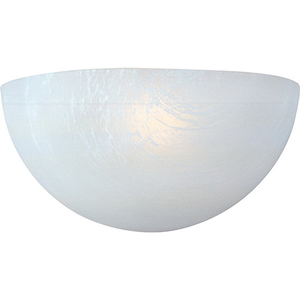 Maxim Lighting 20585MRWT 1-Light Wall Sconce 60 Watt 120 Volt White Essentials - 20585 Essentials - 20585