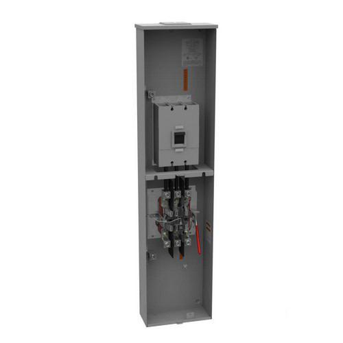 Milbank U5796-X-400-CB-BL 3-Phase Ringless Meter Socket With Lever Bypass 7  Jaw 1-Position 320-Amp