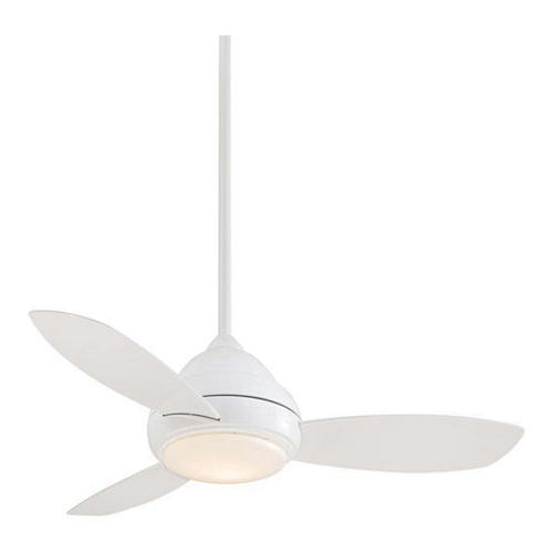 Minka aire f516l wh ceiling fan with light 44 inch 3 blade 3 speed minka aire f516l wh ceiling fan with light 44 inch 3 blade 3 speed aloadofball Image collections