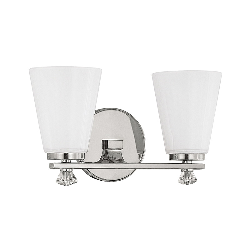 Capital Lighting 8022pn 127 2 Light Vanity Fixture 150 Watt 120 Volt Ac Polished