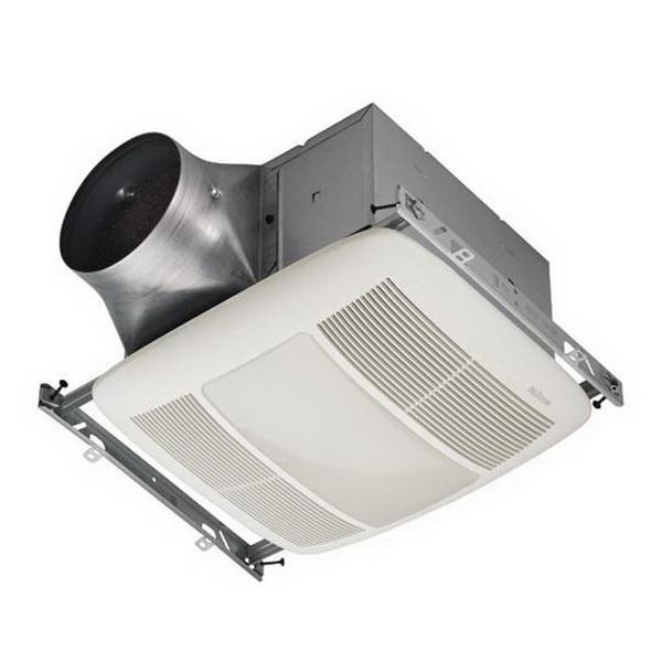 Nutone ZN110L Multi-Speed Ventilation Fan With Light 120 Volt AC 110 CFM at 0.1 Inch Static Pressure 110 CFM at 0.25 Inch Static Pressure White Broan® Ultra Green™