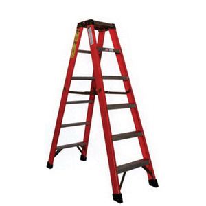 sunset ladder fd1a14 fiberglass fd1a series type 1a double sided step ladder 14 ft orange. Black Bedroom Furniture Sets. Home Design Ideas