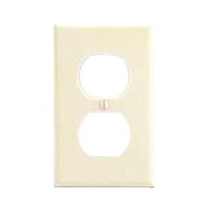 Mulberry 84101 Steel Device Mount Standard Size 1-Gang Wallplate (1) Duplex Receptacle Ivory