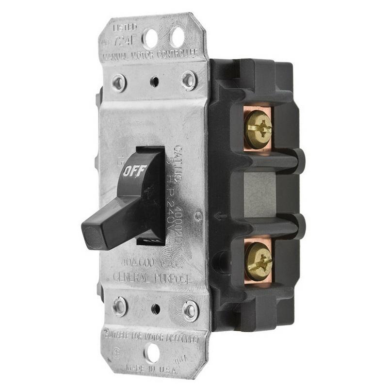 Hubbell-Wiring HBL7842D 2-Pole AC Manual Motor Controller 600 Volt AC 40 Amp Circuit-Lock®
