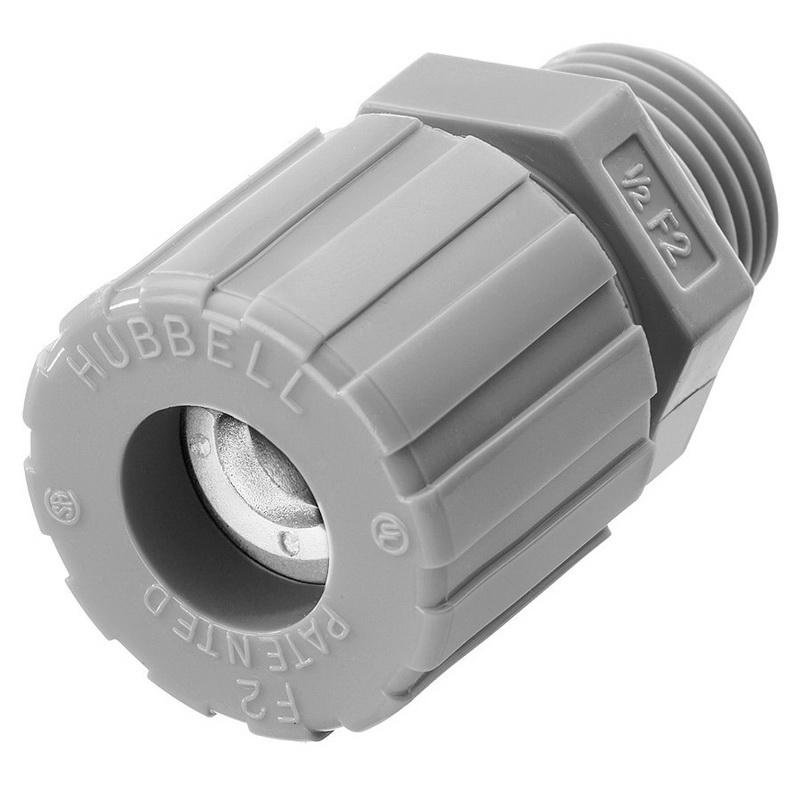 Hubbell-Wiring SHC1022CR Nylon Form F2 Cord Connector 1/2 Inch 0.25 - 0.38 Inch Kellems®