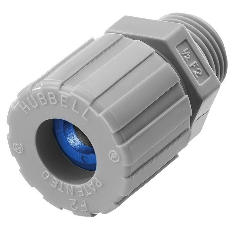 Hubbell-Wiring SHC1023CR Nylon Form F2 Cord Connector 1/2 Inch 0.38 - 0.5 Inch Kellems®