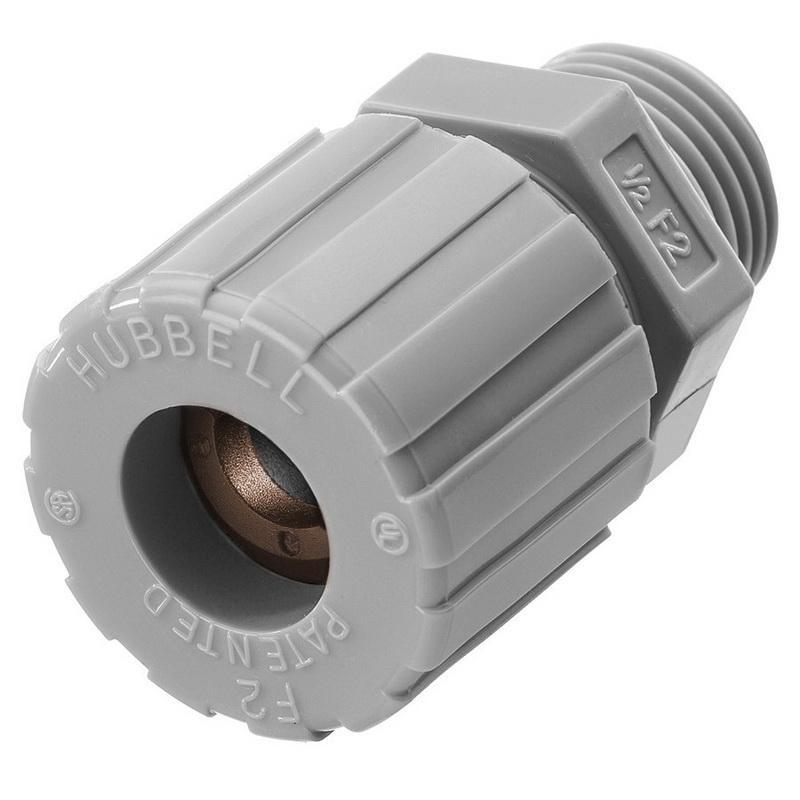 Hubbell-Wiring SHC1024CR Nylon Form F2 Cord Connector 1/2 Inch 0.5 - 0.63 Inch Kellems®