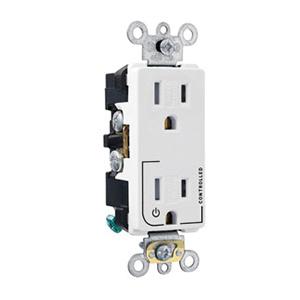 leviton tdr20-s2w 3-wire 2-pole heavy-duty duplex receptacle outlet