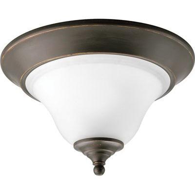 Progress Lighting P3475-20 1-Light Ceiling Flush Mount Ceiling Fixture 100 Watt 120 Volt Antique Bronze Trinity