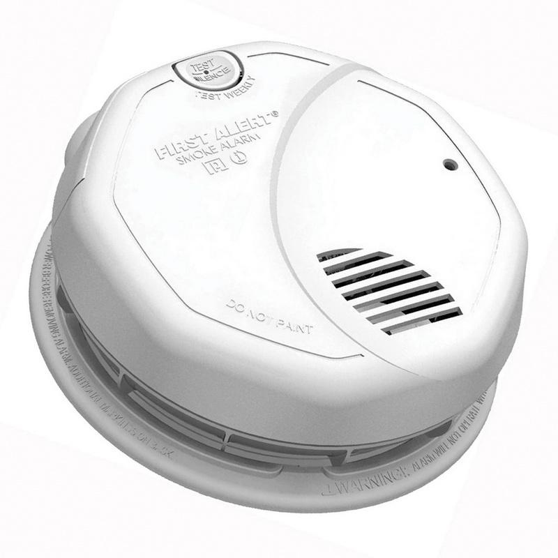 BRK 3120B Single/Multi Station Smoke Alarm With 2 AA 1.5 Volt Alkaline Battery Backup 120 Volt AC First Alert®