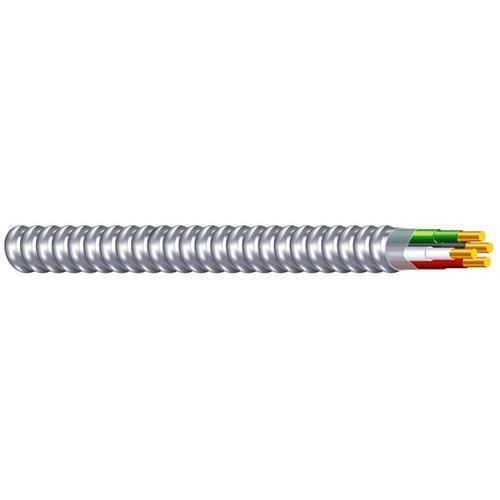 MCHV-CU-12/2-BN-AL-JKT-250'-CL Copper Conductor Aluminum Armored MC Cable 12/2 250 ft Coil Brown/Gray