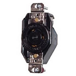 hubbell-wiring l530r screw mount locking receptacle 30-amp 125-volt ac 1