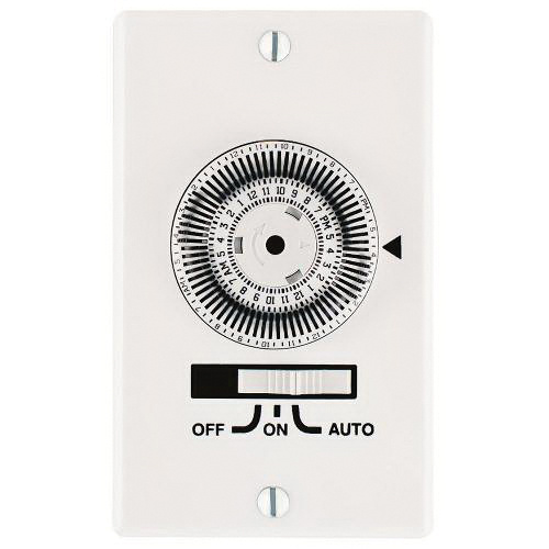 Intermatic KM2ST-1G 120-Volt AC at 60-Hz 20-Amp 1-Pole 24 Hour SPST KM2  Series 1-Gang Mechanical Heavy-Duty In-Wall Timer Switch