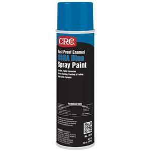 CRC Industries 18102 Rust Proof Enamel Spray Paint Aerosol Can 20 oz OSHA  Blue