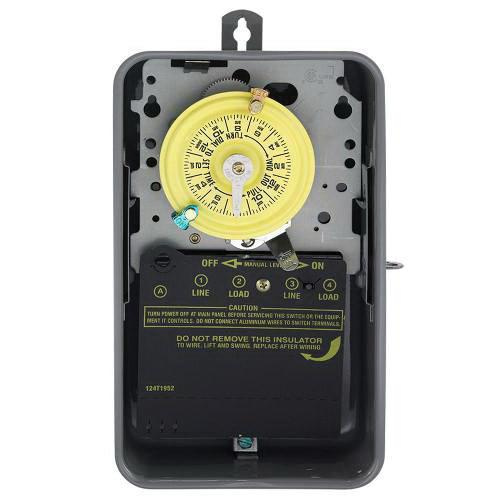 Intermatic T101R ON/OFF T100 Series Mechanical Timer Switch 120 Volt AC 40 Amp 24 Hour