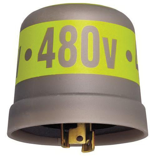 Intermatic LC4535LA Thermal Locking Type Photocontrol With Spark Arrestor 480 Volt AC SPST Gray With Yellow Band