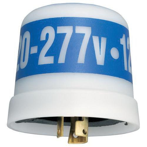 Intermatic LC4536C Thermal Locking Type Multivoltage Photocontrol 120 - 277 Volt AC SPST White With Blue Band
