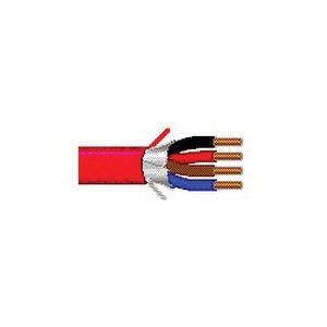 Solid Bare Copper Unshielded Plenum Rated Fire Alarm Cable 14/4 1000 ft Reel Red
