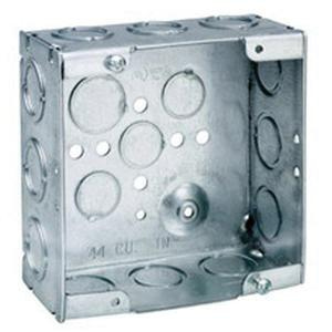 Crouse-Hinds TP521 Steel Outlet Box 4-11/16 Inch x 4-11/16 Inch x 2-1/8 Inch 44 Cubic-Inch