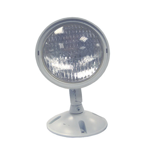 Encore Lighting Erf301wp 6rs12 1 Head Weatherproof Emergency Light 12 Watt 6 Volt White