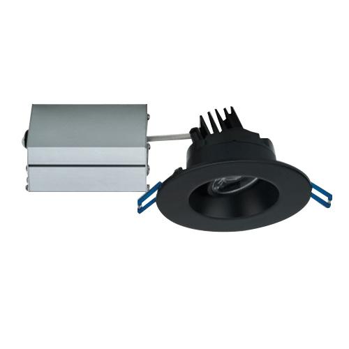 Lotus Led Lights Lrg3 30k Bk Dimmable 3 Inch Regressed Recessed Lighting Fixture 120 Volt Ac 7 5 Watt 90 Cri 3000k 600 Lumens Black