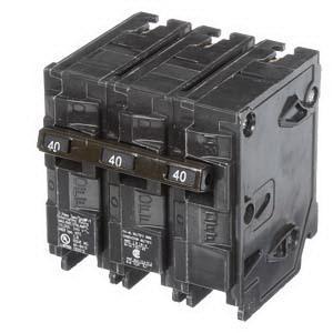 Murray MP340 Plug-In Mount Type MP-T Circuit Breaker 3-Pole 40-Amp 240-Volt  AC