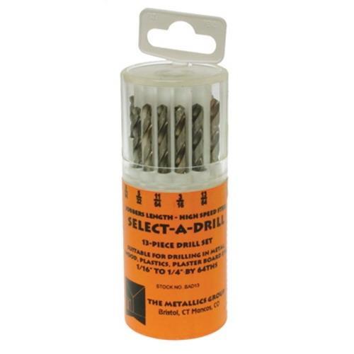 Metallics SAD13 High Speed Steel Select-A-Drill 1/16 - 1/4 Inch