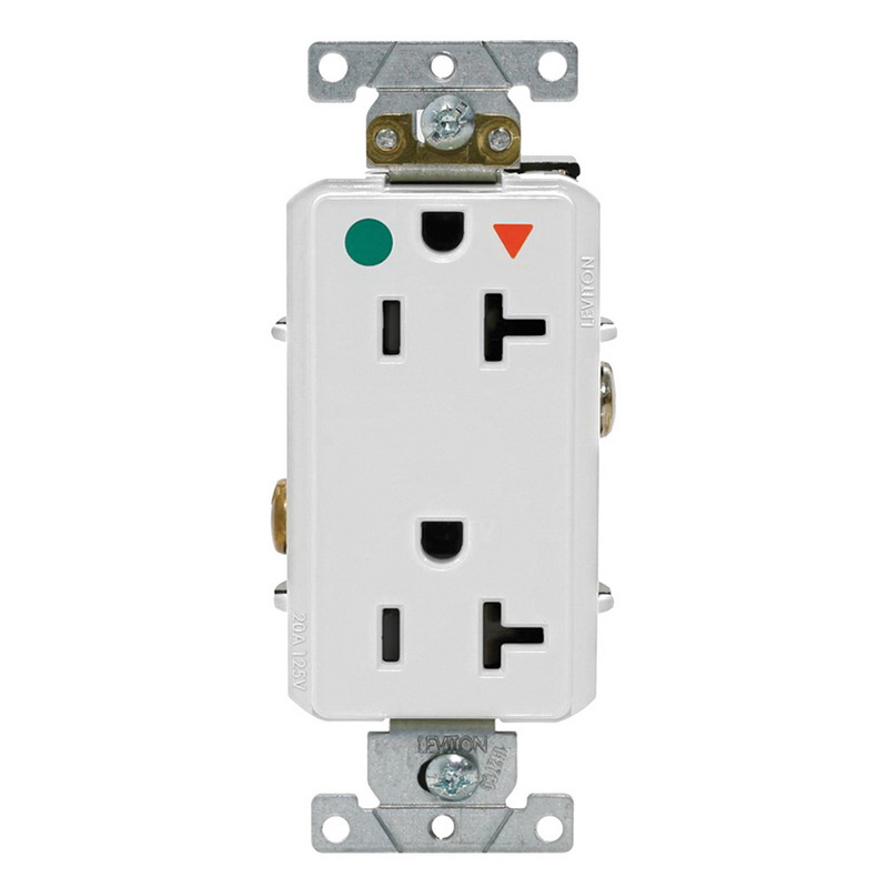 Leviton D8300-IGW 3-Wire 2-Pole Heavy-Duty Smooth Face Receptacle Outlet on