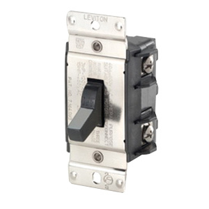 Leviton MS402-DS 2-Pole 1-Phase Industrial Grade Manual Motor Controller 600 Volt AC 40 Amp Black