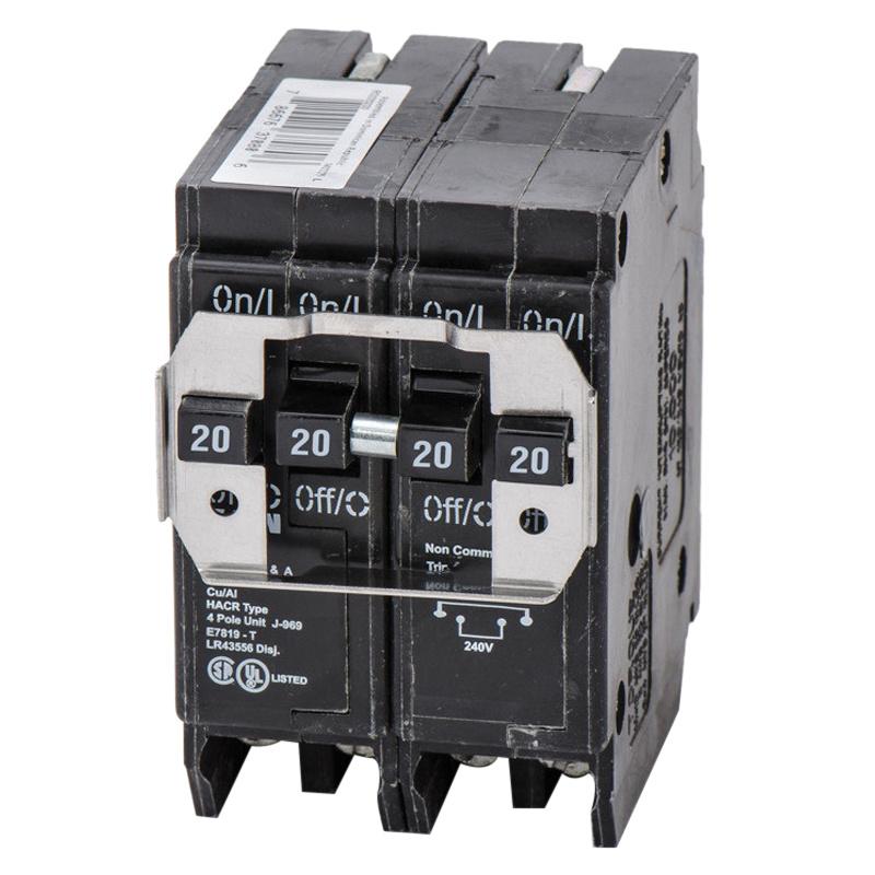 Eaton BRDC220220 Plug-On Mount Type BRD Quadplex Circuit Breaker 4 ...